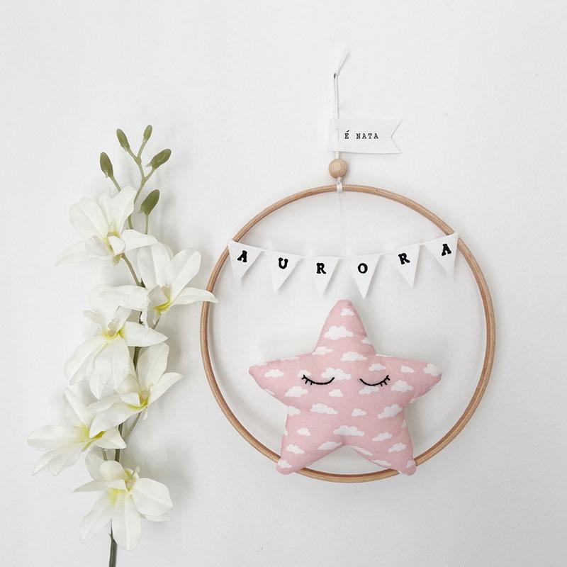 fiocco nascita bambina stellina rosa